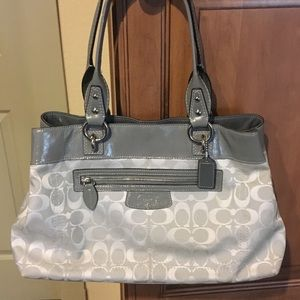 Coach Grey Penelope Signature Purse/Tote